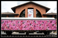 Le wagon rose / The pink car - Muse des Abattoirs / Abbatoirs museum - Toulouse (christian_lemale) Tags: pink france rose museum wagon nikon muse toulouse abattoirs lesabattoirs d7100