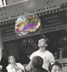 Distilled. (onlyajenncanlove) Tags: color bubbles bubble san francisco sanfrancisco street photography photo nikon d7000 wow blackandwhite selective cosmic big