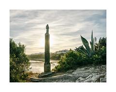 Vila Nova de Milfontes (Sr. Cordeiro) Tags: vilanovademilfontes milfontes alentejo portugal praia beach esttua statue santa saint nikon v1 nikkor 11275mm panorama panoramica stitch stitching