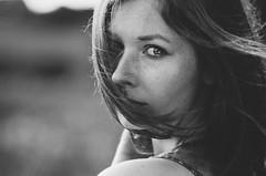 Counting Freckles (Laura Callsen) Tags: sw black white freckles lovely light deep gaze vintage film