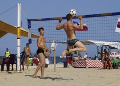 Footvolley at Copabana beach (alobos Life) Tags: footvolley sport futbol ball sand arena boy guy garoto cute nice beautiful sunga speedo water beach playa funny enjoying rio de janeiro brasil brazil have fun outdoors candid brazilian blue azul brasileo futevolei 2016 copabana