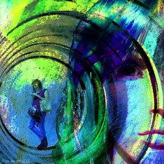 A circle in a spiral (Lemon~art) Tags: woman texture mannequin wheel circle spiral trapped manipulation mind round unaware windmillsofyourmind