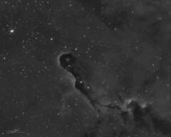 Elephant´s trunk (IC 1396) (Abel de Burgos) Tags: sky night telescope nebula astrophotography astronomy celestron 460 refractor narrowband atik qhy cgem