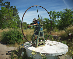Water well and pump (nisudapi) Tags: 2016 portugal algarve pump well water crank