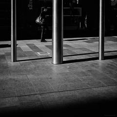 Everyday #Adelaide No. 330 (Autumn/Winter) (michellerobinson.photography) Tags: southaustralia people community capturinglife documentary bw australia everyday editedonipadair everydayadelaide life everydayaustralia instagram dailylife cityliving blackandwhite streetphotography blackandwhitephotography streetphotographer flickrelite 4tografie adelaide snapseed lifestyle citylife michellerobinson streetlife urban monochrome michmutters streetphoto scene street symmetry squareformat three shadows abstract poles 11 lightandshadows morninglight pillars