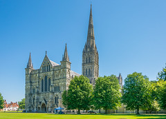 Salisbury Cathedral, Wiltshire (JackPeasePhotography) Tags: uk summer hot tower cathedral gothic july medieval spire salisbury wiltshire 2016 earlyenglish