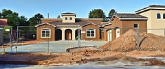 The New Villa (TOPPED OUT AT 102'F TODAY!!!) Tags: 366the2016edition villa large new built construction architecture spanish southwestern neighbourhood colours rustic