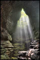 Stephens Gap. (BamaWester) Tags: light rocks alabama cave beams hdr bamawester napg stephensgap