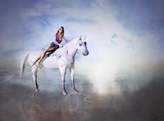 The impossible dream (Lizz Avon) Tags: addams blueeyes body dream female girl hair hairfair head horses lelutka lelutkameshhead maitreya maitreyameshbody mesh meshbodylara mina outside poses qposes secondlife stella summer unicorn woman