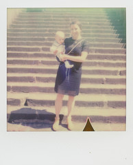On the steps (SX-70) (mmartinsson) Tags: stairs analoguephotography sx70 impossibleproject sonar scan onestep instantfilm portrait epsonperfectionv700 2016 polaroid film colour scheslitz bayern tyskland de
