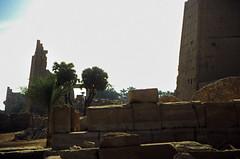 Ägypten 1999 (330) Karnak-Tmpel: (Rüdiger Stehn) Tags: tempel tempelanlage tempelvonkarnak afrika ägypten egypt nordafrika 1999 winter urlaub dia analogfilm scan slide 1990er oberägypten 1990s südägypten aṣṣaʿīd diapositivfilm analog kbfilm kleinbild canoscan8800f canoneos500n 35mm luxor misr مصر altägypten altertum archäologie antike unescowelterbe unescoweltkulturerbe welterbe weltkulturerbe säulenhalle sakralbau bauwerk historischesbauwerk archäologischefundstätte ägyptologie karnaktempel amunrebezirk pylon karnak ruine theben thebenost الأقصر aluqṣur reise reisefoto