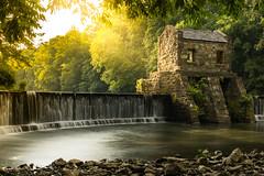 Speedwell Dam (Mike M Martin) Tags: morristown teamcanon water longexposure newjersey dam speedwell river lake creek sunset stones