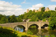 Ludlow (williamrandle) Tags: dinhambridge ludlow shropshire welshmarches uk riverteme river water bridge ludlowcastle arch stone reflections outdoor landscape trees green nikon d7100 tamron2470f28vc sky clouds