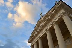 """If I cannot move Heaven I'll raise Hell"" (Lara Sanz Serrano) Tags: sky clouds beautiful cathedral vilnius lituania europe wonderful sunset"