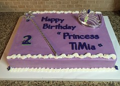 Happy Birthday Princess Cake (dms81) Tags: cake birthday crown wand sceptre tiara purple princess sheetcake