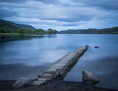Stone Jetty.. (LoneWolfA7ii) Tags: loch ard sky clouds light stone jetty trees blue scotland trossachs sony a7ii art