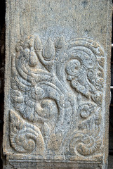 Artwork in Stone (VinayakH) Tags: talakad karnataka india temple hindu chola gangadynasty hoysala carvings vaidyeshvara kirtinarayana
