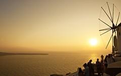 Stunning sunsets in Santorini (somabiswas) Tags: oia landscape santorini greece windmill cafe