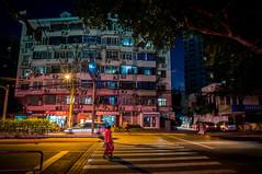 going shopping (Rob-Shanghai) Tags: shopping apartment crossing people road lights shanghai china leica m240
