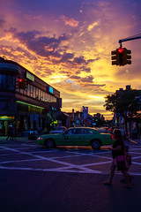 "Sunset Over Austin Street (Santos ""Grim Santo"" Gonzalez) Tags: canon22mmeff28stm canoneosrebelt4i clouds foresthills gothamist grimsanto manhattanbridge nyc newyorkcity queens sky streetphotography sun sunset streettog"