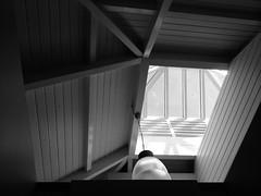 Ceiling (Shirin Hodgson-Watt) Tags: angular monochromatic monochrome looe cornwall blackandwhite architecture angles ceiling roof