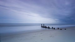 Cape May Seascape (Catskills Photography) Tags: seascape landscape sea ocean beach shore coast sky clouds waves longexposure leebigstopper canon1022mmlens capemay jetty