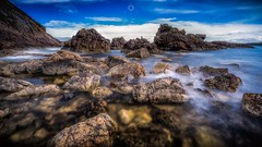 Fallen to Pieces (Augmented Reality Images (Getty Contributor)) Tags: barnacles bigstopper bluesky canon coastline cullen landscape leefilters longexposure morayshire rocks scotland seascape summer water