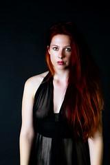 Larissa (Photographer Primus) Tags: redhead beauty serious black negligee