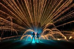 phoLAC2016 : Kim & Jordan (palateth) Tags: lightart lightpainting night longexposure pholac pholac2016 photokina glpu afterpholacfun fireworks blue smoke