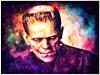beau monstre (globaldenny) Tags: boriskarloff karloff frankensteinsmonster painting colorful monster frankenstein