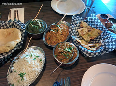 Lunch at Tasty Indian Bistro (VanFoodies) Tags: indian delta curry naan pakora bhatura lambsaag bainganbartha tastyindianbistro chickenmuglai
