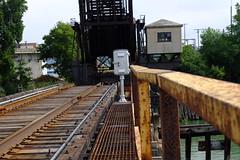 Railway Jam (BMillerRoth) Tags: wood railroad bridge trees green water port river rust industrial factory tracks rail railway drawbridge ladder draw huron