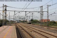 Massalfassar (Adrin Valencia Martnez) Tags: trenes 333 130 cruce renfe 599 vossloh massalfassar