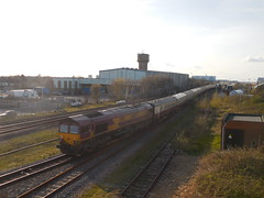 66047 (Boothby97) Tags: gm br diesel lincolnshire cleethorpes charter dbs class66 ews diesellocomotive rivieratrains class660 66047 dbschenker 1z47 cleethorpesrailwaystation thehumbersceptre