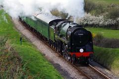 Full Steam Ahead (David Blandford photography) Tags: spring steam dorset gala britannia corfecastle 2015 70000 swanagerailway afflington