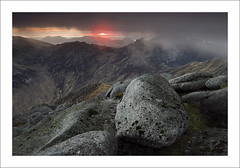 MORDOR (SwaloPhoto) Tags: sunset mountains islands coast scotland shadows silhouettes boulder coastal peaks isleofarran ridges goatfell estuaries scottishhighlands bythesea firthofclyde corbetts summits glenrosa cirmhor caistealabhail leefilters fujinonxf14mmf28r fujixe2 deargcoirein