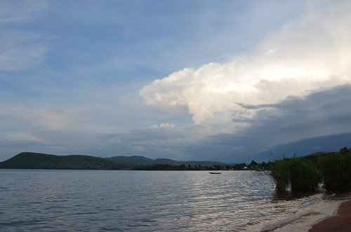 A storm coming in; Lake Tangyanika, Tanzania