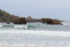 Surferos en Biarritz (Andrs Guerrero) Tags: sea costa beach coast mar rocks surf waves playa shore surfers francia olas euskadi biarritz rocas surferos iparralde pasvascofrancs