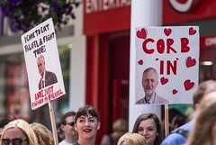 Jeremy Corbyn Labour Party rally, Canterbury (chrisjohnbeckett) Tags: canterbury street urban politics rally march corbyn jeremycorbyn smile heart placard slogan red photojournalism global chrisbeckett canonef135mmf2lusm labour labourparty leader leadership socialism falafel momentum