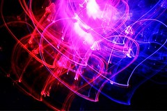 A lover of the light (Charlotte Ruck) Tags: love heart hearts light trails slow shutter speed colour dark black purple pink magenta