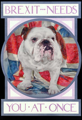 """Brexit Needs You"" poster (Futurilla) Tags: uk illustration poster flag bulldog business clipart british unionjack trade exports brexit euexit"