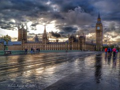 Westminster Storm (Belinda Fewings (3 million views. Thank You)) Tags: street city uk bridge autumn england storm colour london clock wet beautiful westminster beauty rain weather out outside outdoors seaside arty artistic bokeh creative housesofparliament bigben best depthoffield colourful lovely beautify panasoniclumixdmc pbwa creativeartphotograhy belindafewings