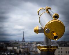 Paris sera toujours Paris (christelerousset) Tags: printemps hausmann paris toureiffel vue toits terrasse perspective jumelles lunettes