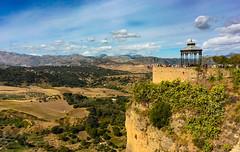 Ronda, Spain (Jonsel) Tags: sky tourism clouds landscape puente spain warm tourist ronda malaga nuevo puentenuevo spainmalagaholiday