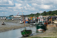 Low Tide in the Old Town (ho_hokus) Tags: uk summer england water clouds creek boats boat lowtide fishingboat riverthames essex leighonsea oldleigh fishingfleet endeavour 2016 thamesestuary leighcreek essexcoast fujix20 fujifilmx20