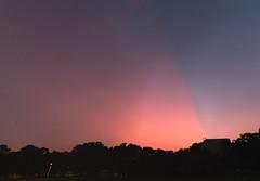 [Crepuscular rays, cloud shadows, mountain shadows][] (Saturn0687) Tags: sunrays crepuscularrays sunset