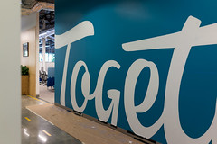 Together (scottboms) Tags: signpainting murals facebook mpk57 arl analogresearchlab projects design lettering together