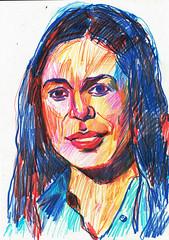 A VUELTAS CON EL RETRATO (GARGABLE) Tags: retrato portrait okavango angelbeltrn apuntes gargable lpicesdecolores composicin sketch drawings dibujos