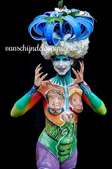 European Bodypainting Awards 2016 Lisse (JanvanSchijndel) Tags: ebf lisse festival body bodypainting art color location woman women nude face contrast bokeh light international pose expression holland dutch country famous info geotag geotagged people visit travel european europe french colors blue red