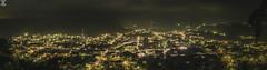 San Lucas Tolimn (Eleazar Foto) Tags: panorama panoramic night lights atnight tree cloudy sky clouds town guatemala gt landscape mountain beautiful
